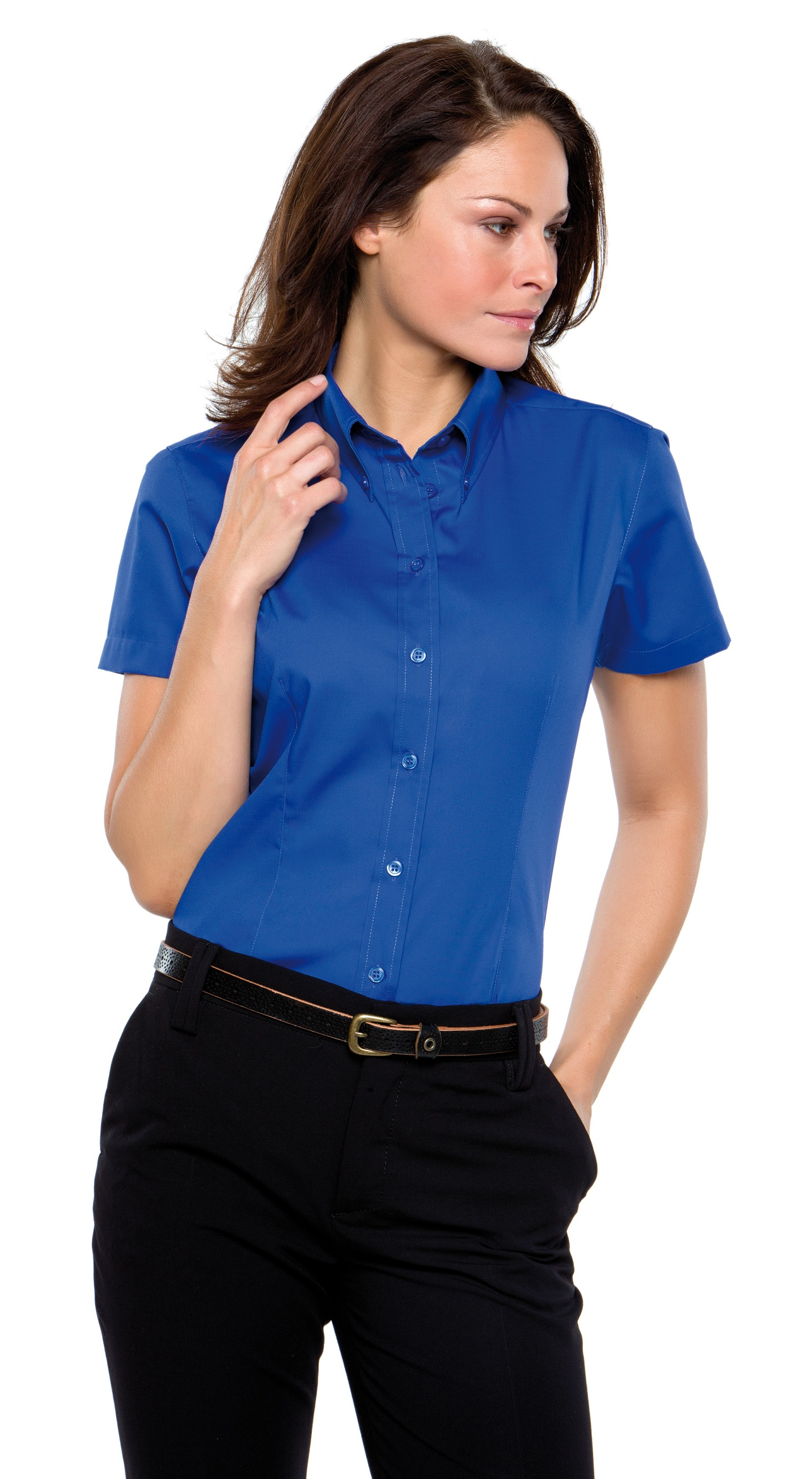 d25d38b15 KK701 Kustom Kit Womens Oxford Shirt Short Sleeve-G.S.Mahal & Co ...