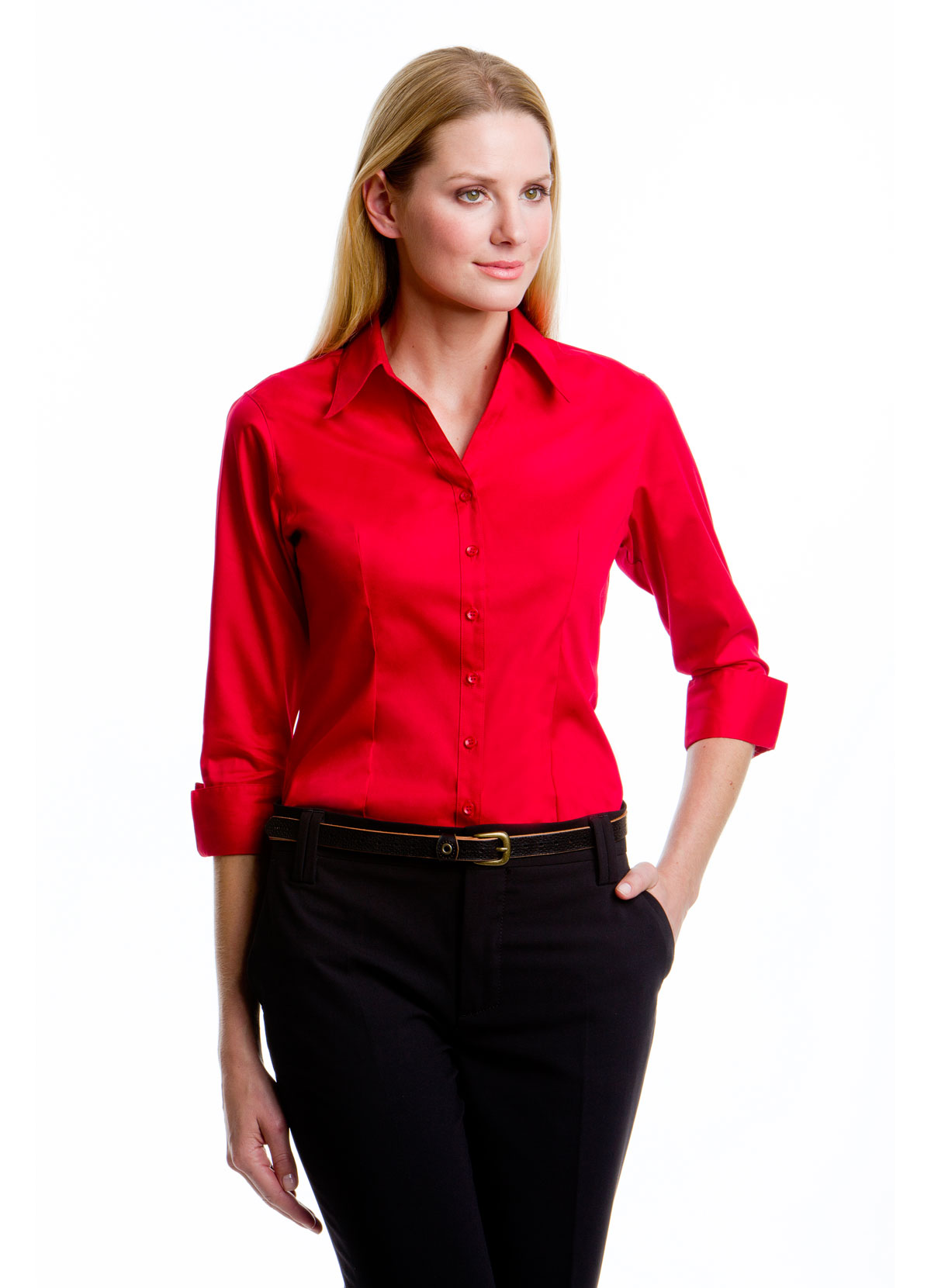 Kk710 Women 39 S Corporate Oxford Shirt 3 4 Sleeve G S Mahal