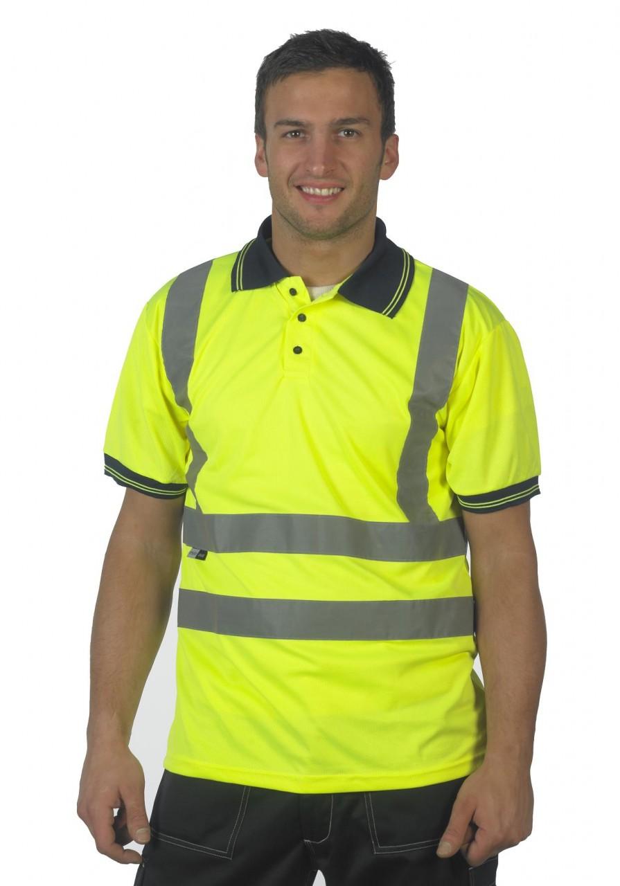 Stand safe hi vis safety polo shirts g s mahal co ltd for Hi vis safety shirts