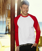 Fruit of the Loom Long Sleeve Baseball T