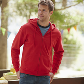 Fruit of the Loom Zip Through Hooded Sweat