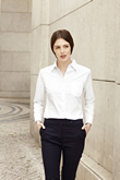 Fruit of the Loom Lady-Fit Long Sleeve Poplin Shirt