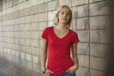 Fruit of the Loom Ladyfit V-neck Valueweight T